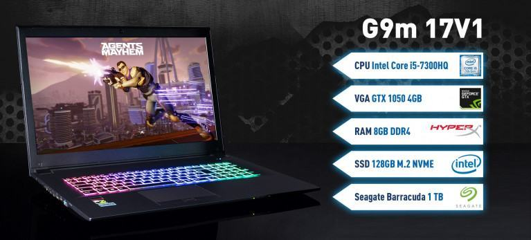 Captiva G9m 17V1 Gaming Notebook mit intel i5 Geforce GTX 1050