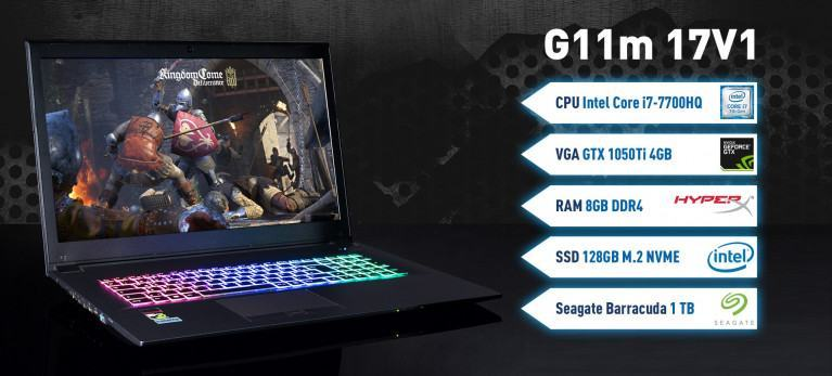 Captiva G11m 17V1 Gaming Notebook mit Intel i7 7700HQ Geforce GTX 1050Ti