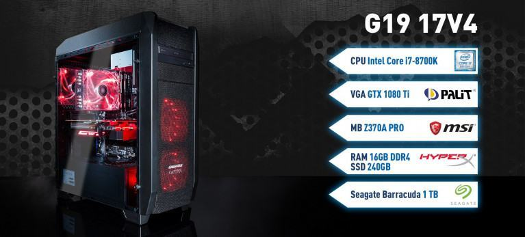 Captiva G19 17V4 Gaming PC mit Geforce GTX Intel Core i7 8700k Coffee Lake